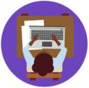 Kuvassa Monika_Naiset liiton keskustoimiston ikoni